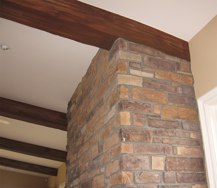 Faux wood beams showcase beams for What is faux wood