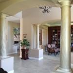 Faux Marble Pillars